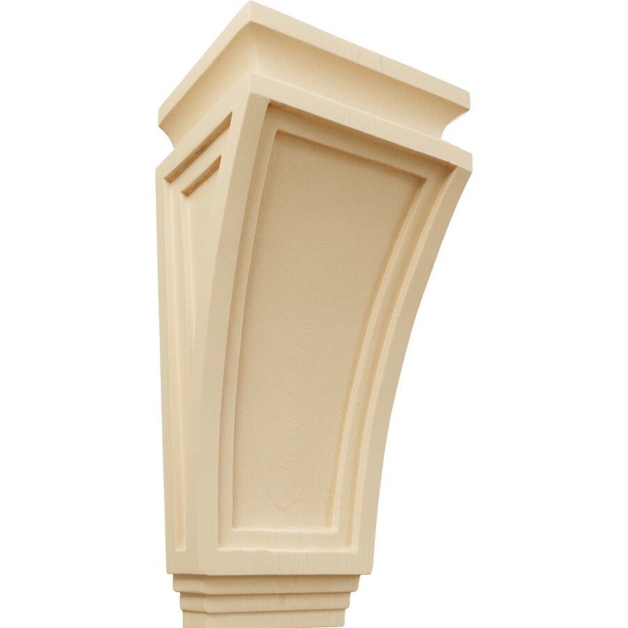 Ekena Millwork 6-in x 12-in Maple Arts and Crafts Wood Corbel