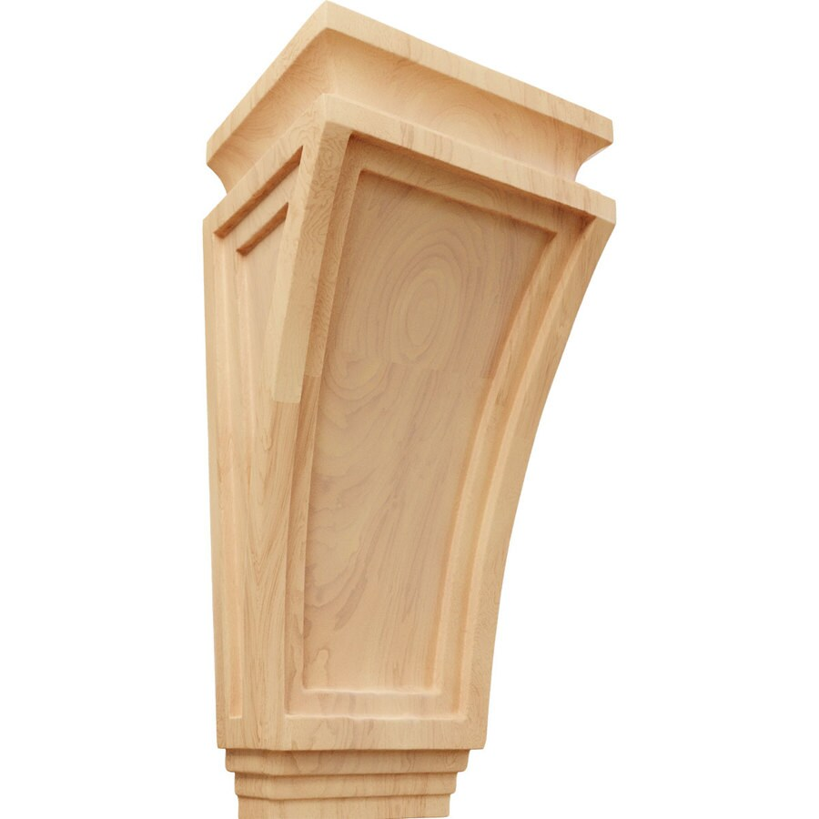Ekena Millwork 6-in x 12-in Red Oak Arts and Crafts Wood Corbel