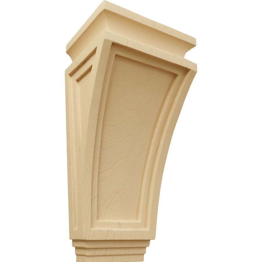 Ekena Millwork 6-in x 12-in Alder Arts and Crafts Wood Corbel