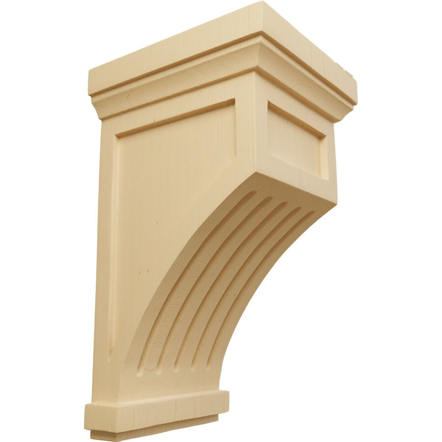 Ekena Millwork 7-in x 13-in Alder Fluted Mission Wood Corbel