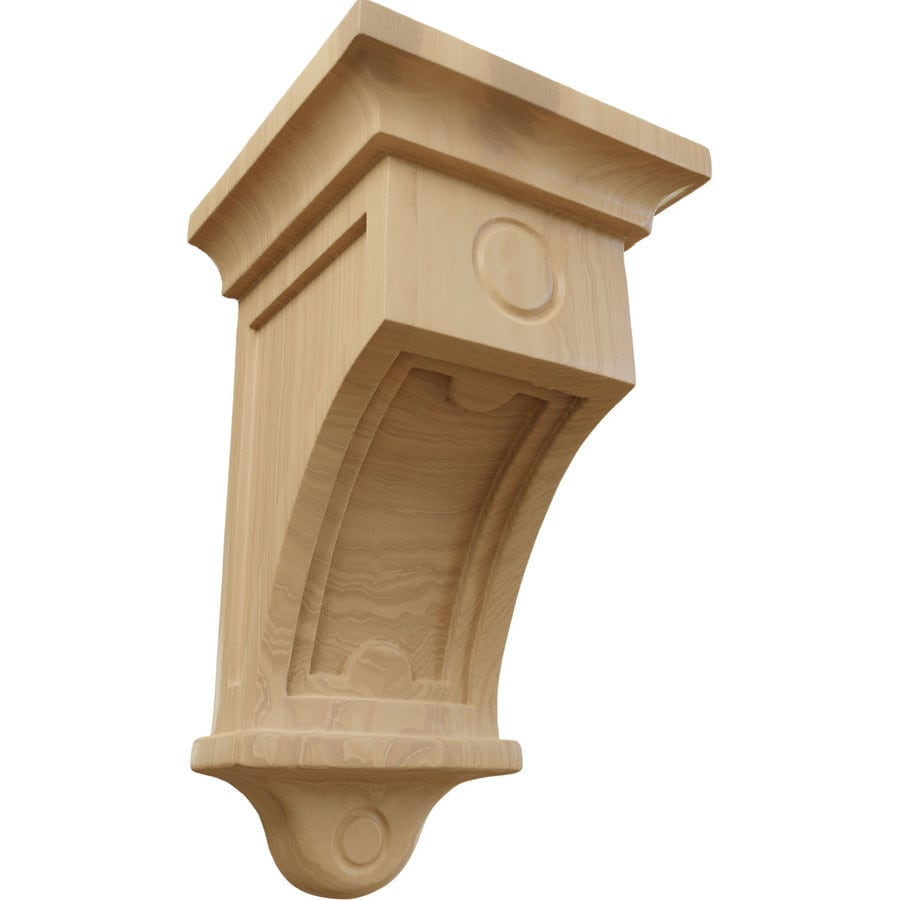 Ekena Millwork 5-in x 9-in Cherry Arts and Crafts Wood Corbel