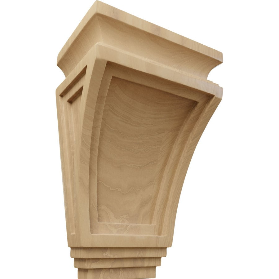 Ekena Millwork 6-in x 9-in Cherry Arts and Crafts Wood Corbel