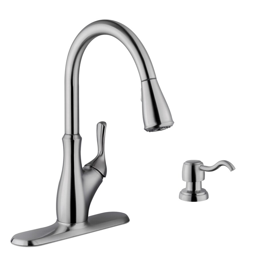 Shop Superior Sinks Stainless Steel 1 Handle Pull Down Kitchen Faucet At