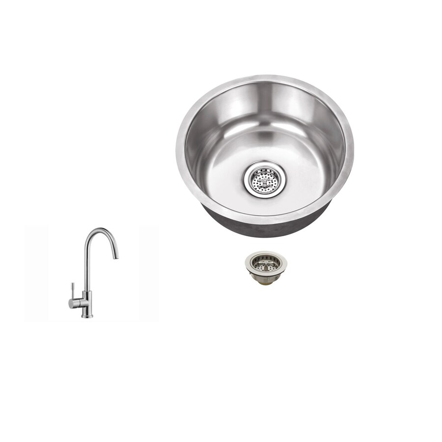 Superior Sinks Brushed Satin Single-Basin Stainless Steel Undermount Commercial/Residential Bar Sink