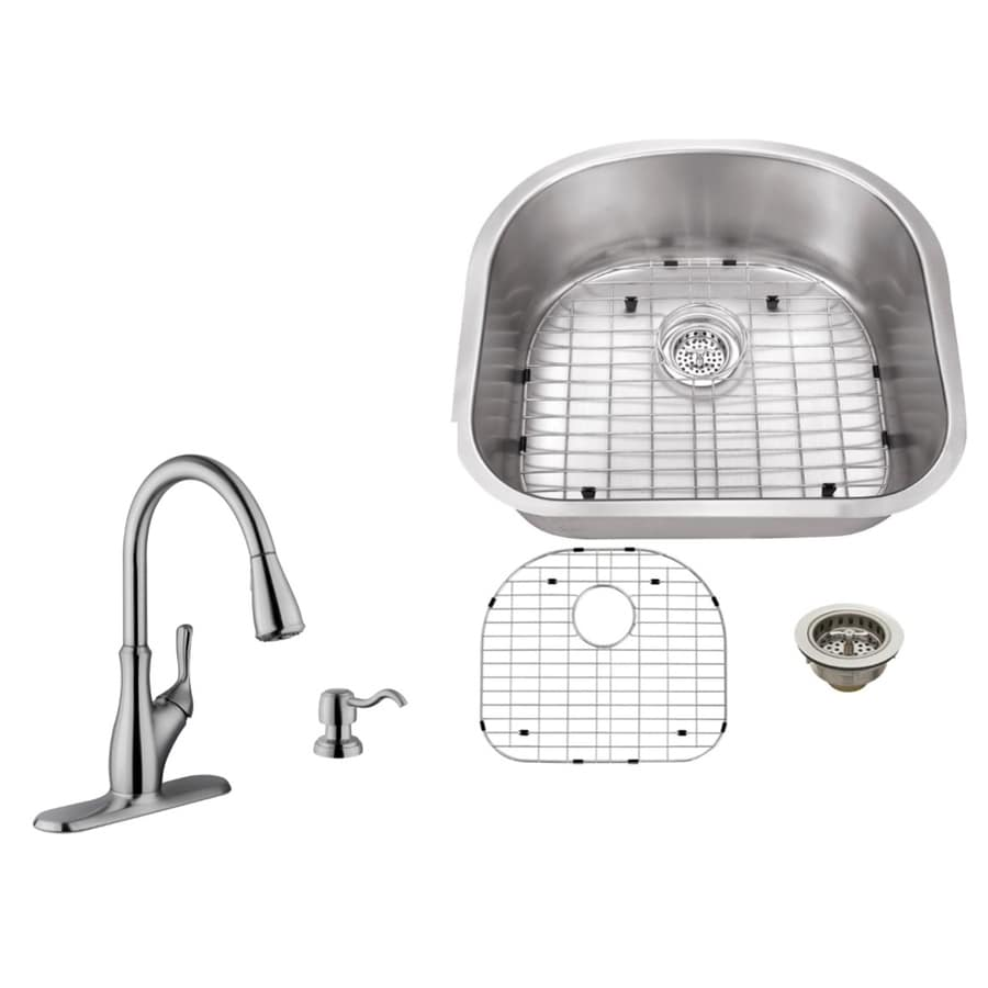 Superior Sinks 23.25-in x 20.88-in Brushed Satin Single-Basin Stainless Steel Undermount Commercial Kitchen Sink