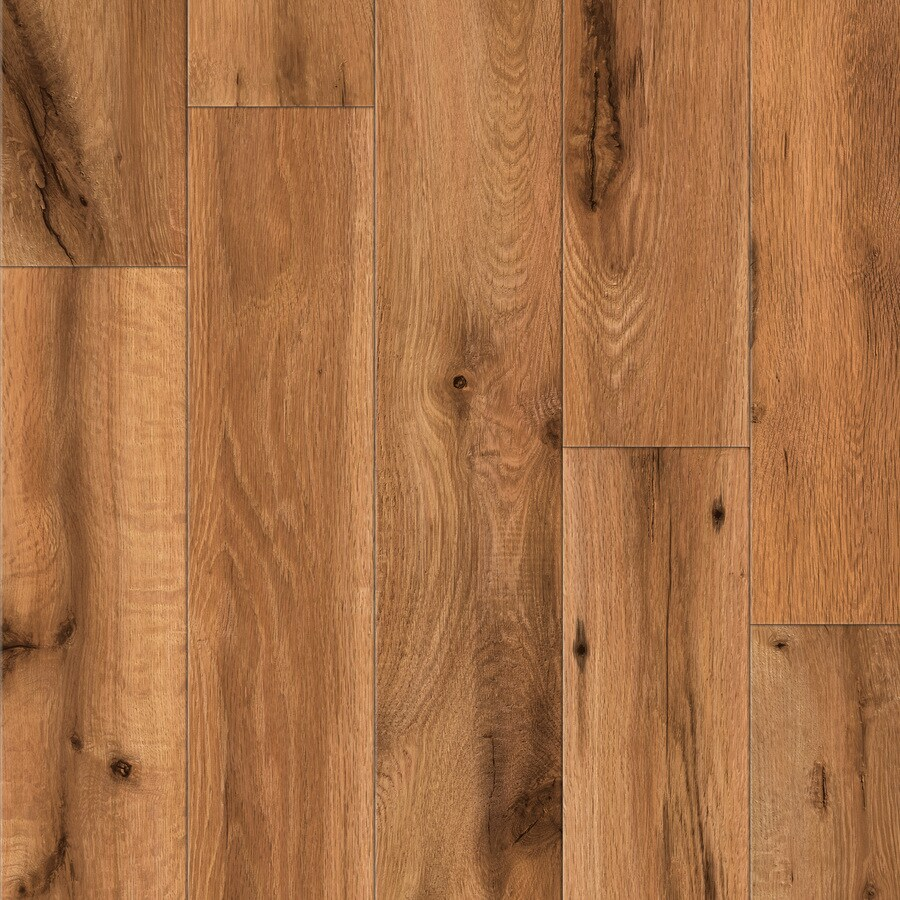 Shop Allen Roth Handscraped Oak Wood Planks Sample