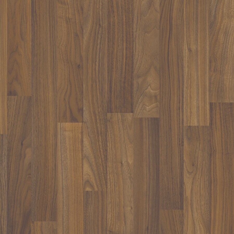 Project Source 8-in W x 4.23-ft L Canyon Walnut Wood Plank Laminate Flooring