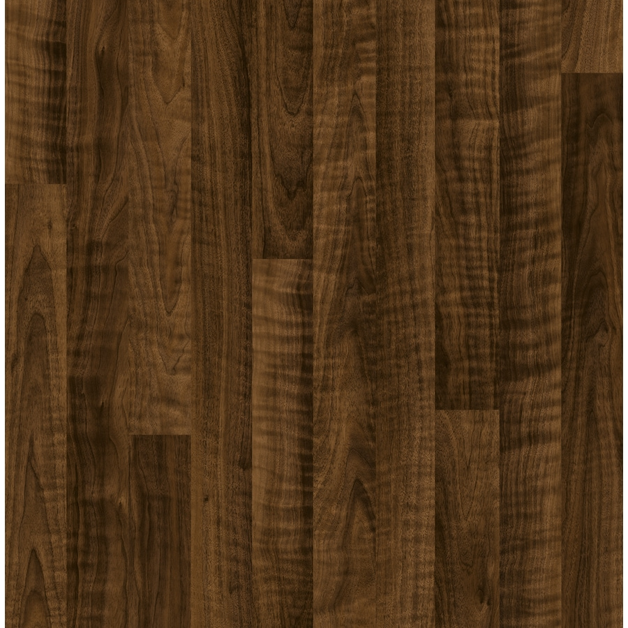 Style Selections 7.6-in W x 4.23-ft L Curly Walnut Wood Plank Laminate Flooring