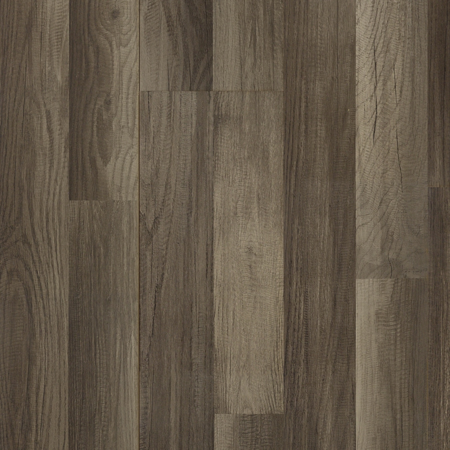 Shop Style Selections Aged Gray Oak Smooth Wood Plank Laminate Flooring
