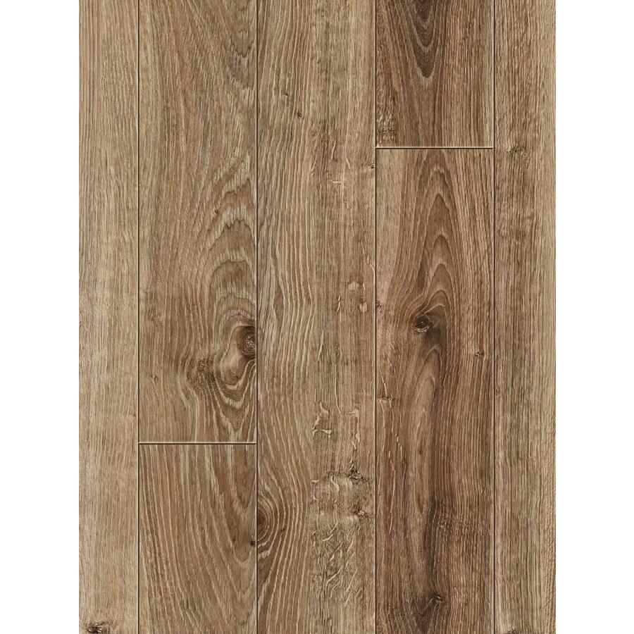 allen + roth 4.96-in W x 4.23-ft L Handscraped Driftwood Oak Wood Plank Laminate Flooring