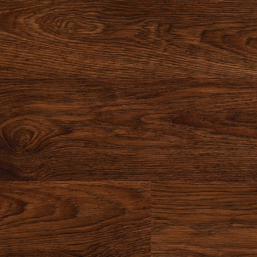 Style Selections Laminate 6.14-in W x 4.52-ft L Rustic Oak Wood Plank Laminate Flooring