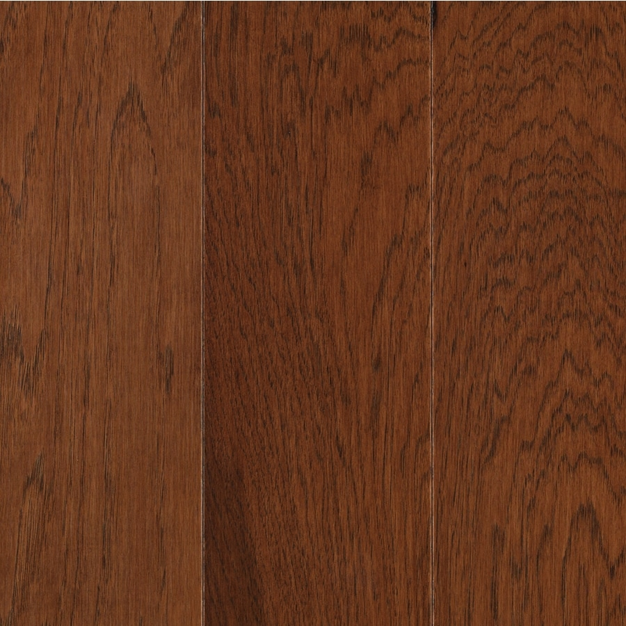 allen + roth 0.375-in Hickory Locking Hardwood Flooring Sample (Warm Cherry)