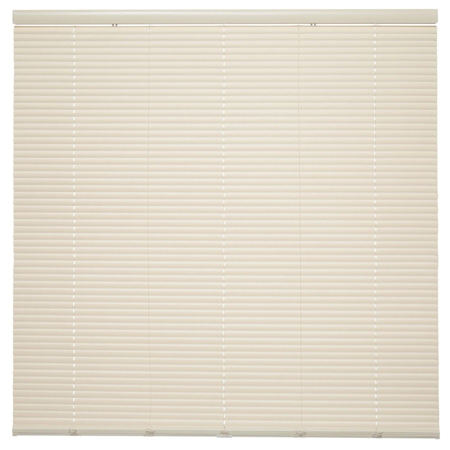 Style Selections 1-in Cordless Ivory Vinyl Room Darkening Mini-Blinds (Common 23-in; Actual: 23-in x 64-in)