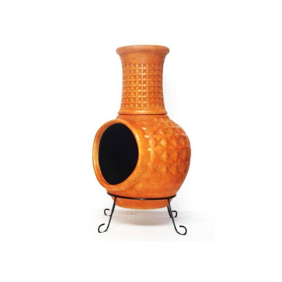 Garden Treasures Rustic Orange Composite Outdoor Wood-Burning Fireplace