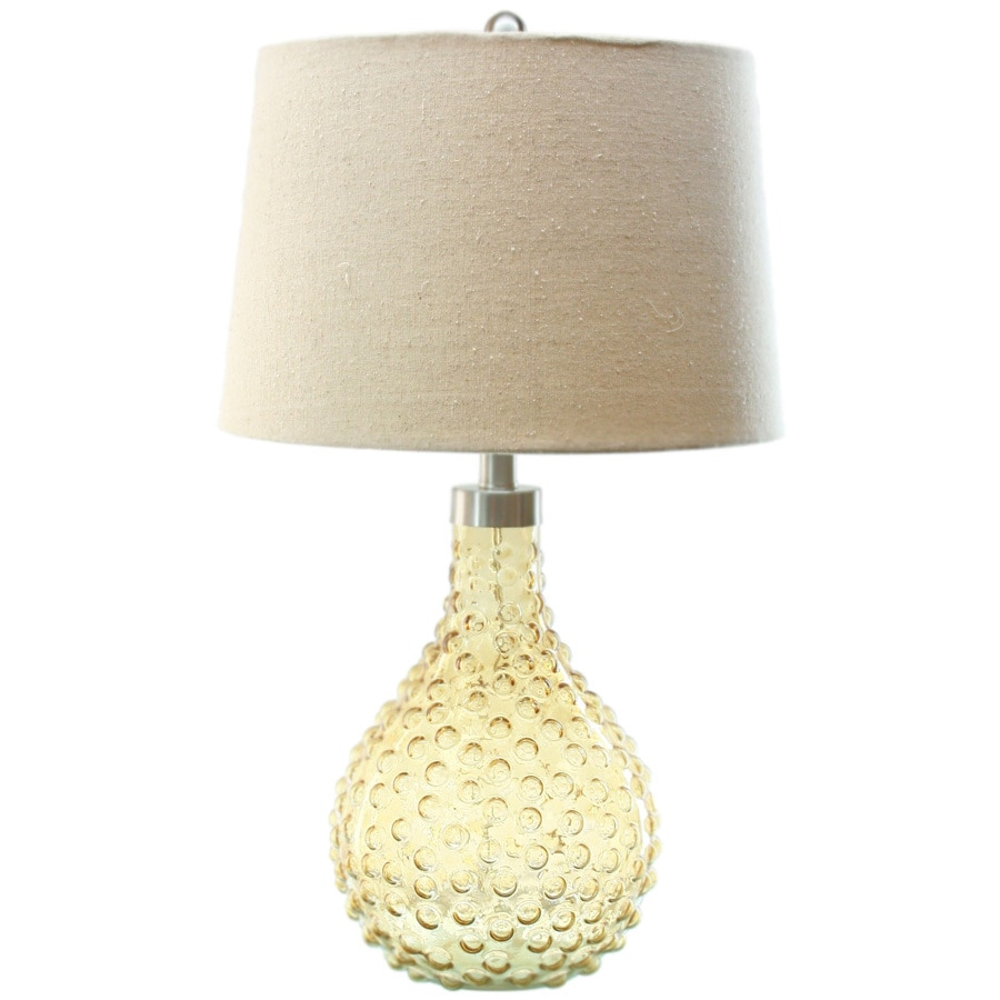 TLC Home 26-in Amber Indoor Table Lamp with Fabric Shade