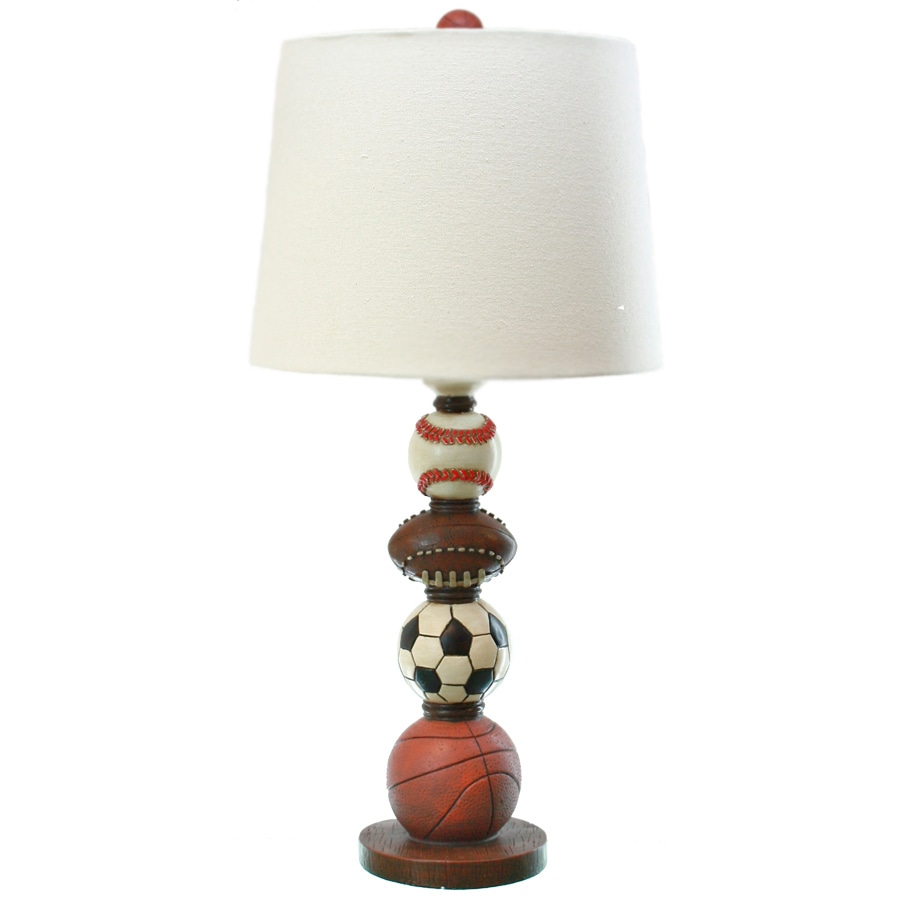 TLC Home 27-in Multi-Colored Sports Indoor Table Lamp with Fabric Shade
