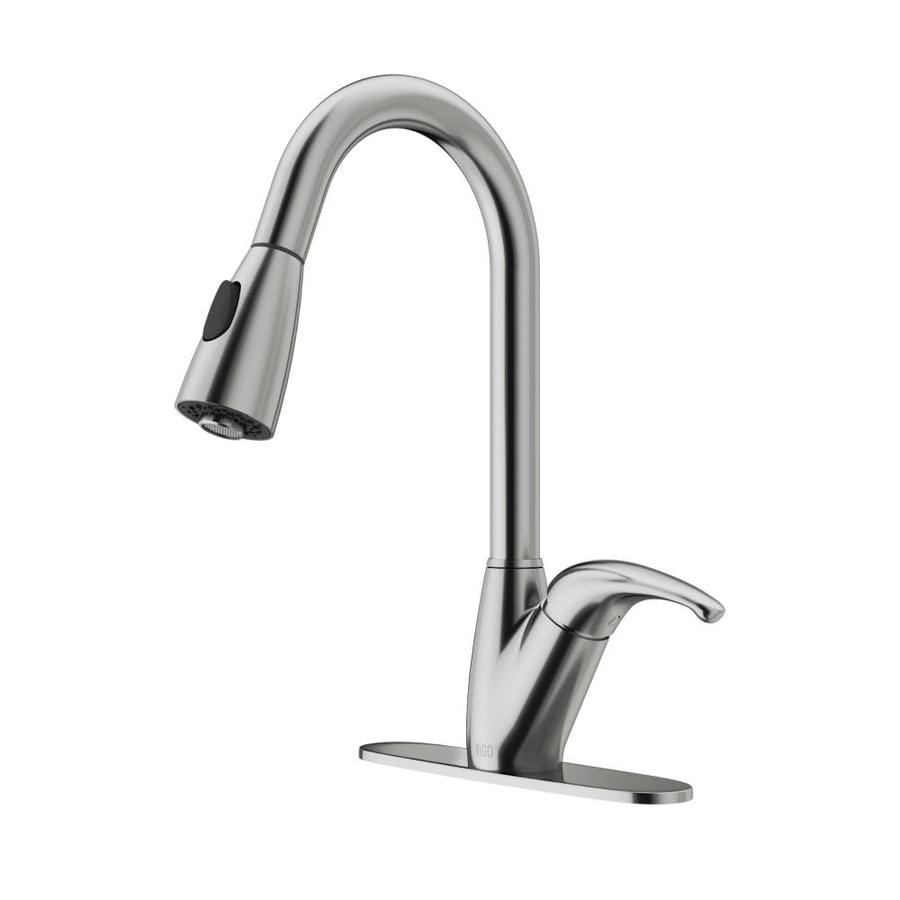 shop vigo stainless steel 1 handle pull out kitchen faucet
