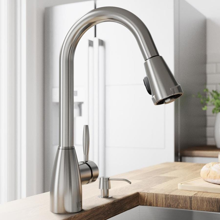 Shop Vigo Stainless Steel 1 Handle Pull Out Kitchen Faucet At
