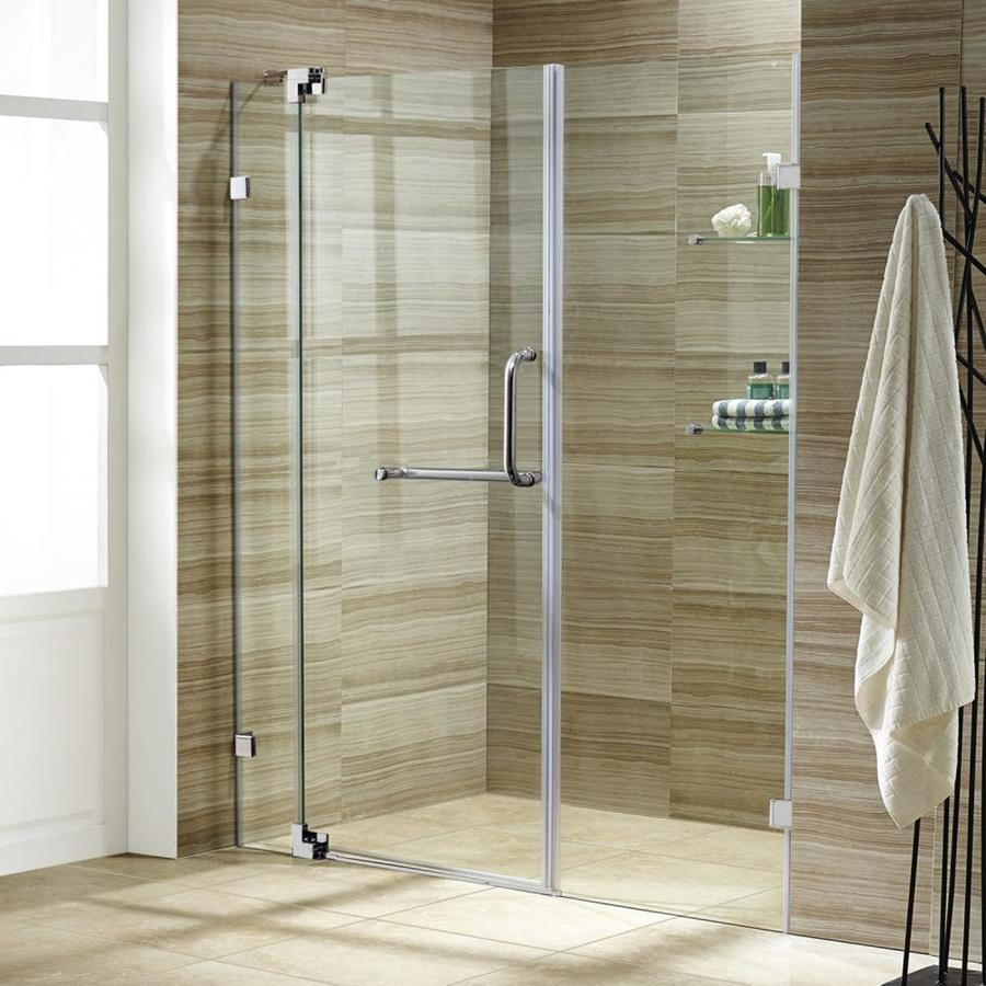 VIGO 60-in to 66-in Frameless Pivot Shower Door