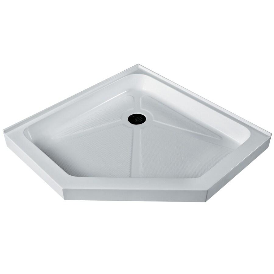 VIGO Shower Tray White Acrylic Shower Base (Common: 36-in W x 36-in L; Actual: 36.125-in W x 36.125-in L)