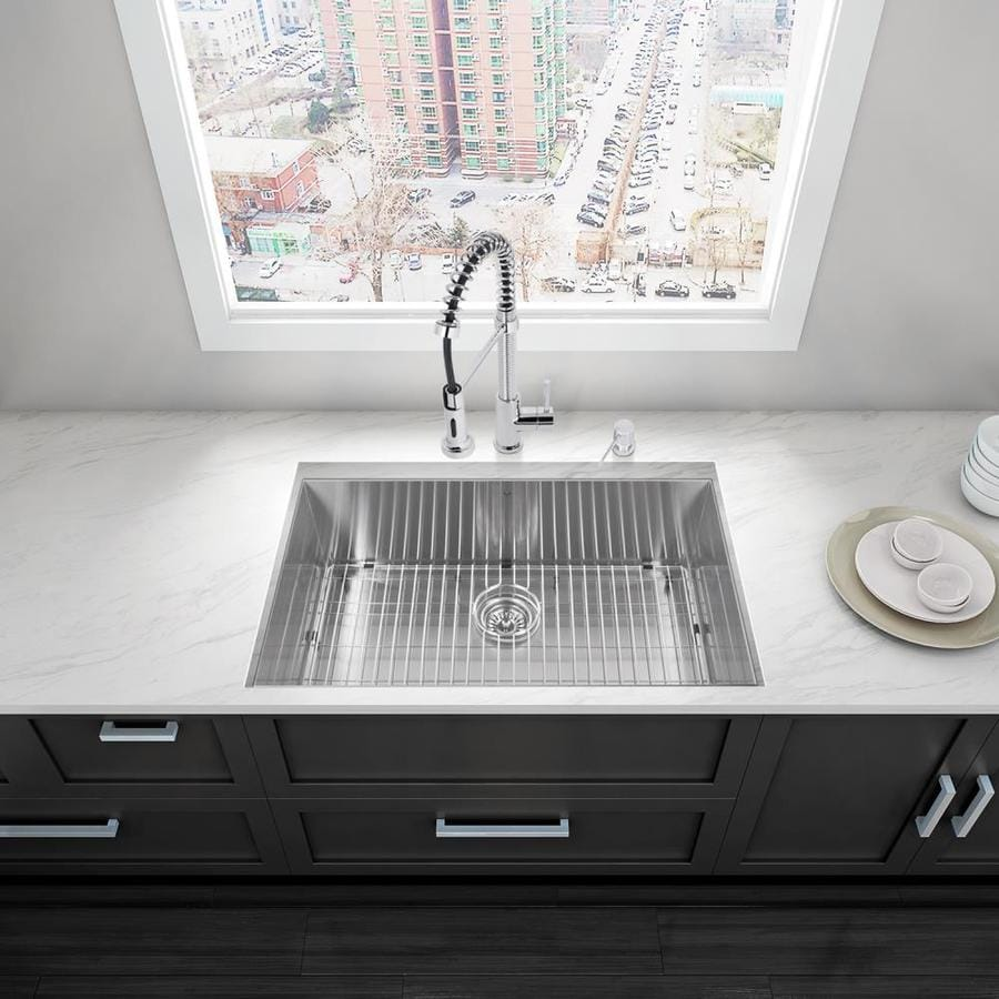 ... Steel Single-Basin Undermount Commercial Kitchen Sink All-In-One Kit