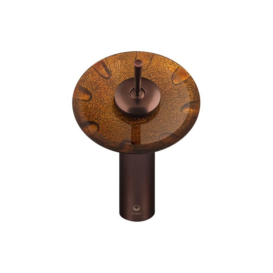 VIGO Walnut Shells 1-Handle Single Hole WaterSense Bathroom Faucet