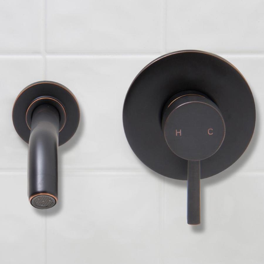 VIGO Antique Rubbed Bronze 1-Handle Single Hole WaterSense Bathroom Faucet (Drain Included)