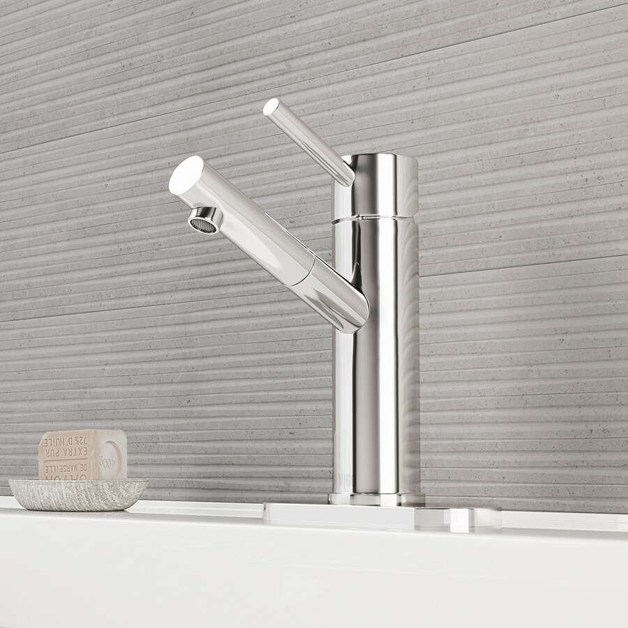Shop Vigo Chrome 1 Handle Single Hole Watersense Bathroom Faucet At