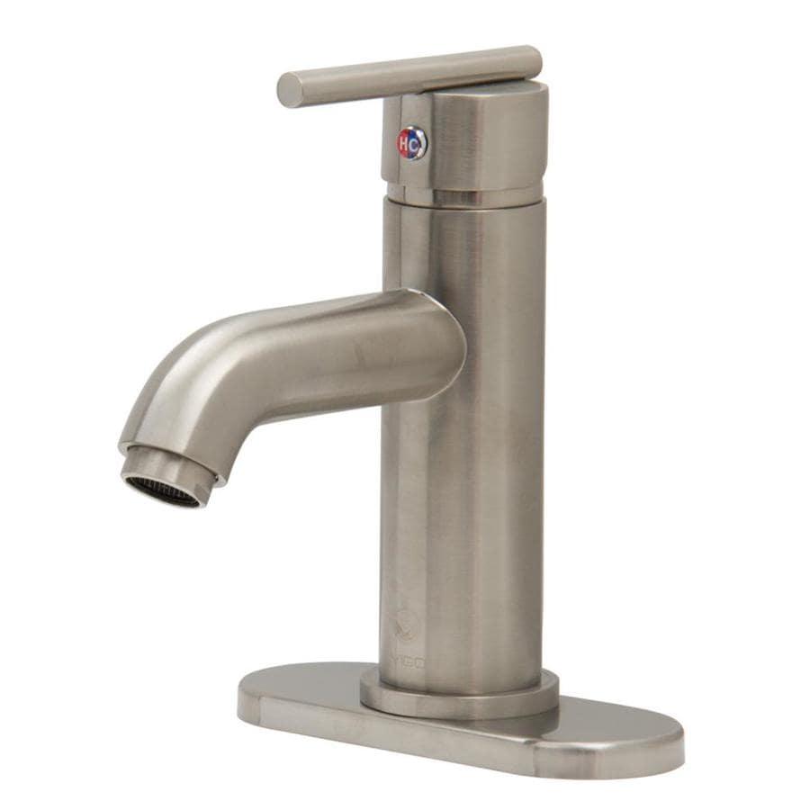 VIGO Brushed Nickel 1-Handle Single Hole WaterSense Bathroom Faucet