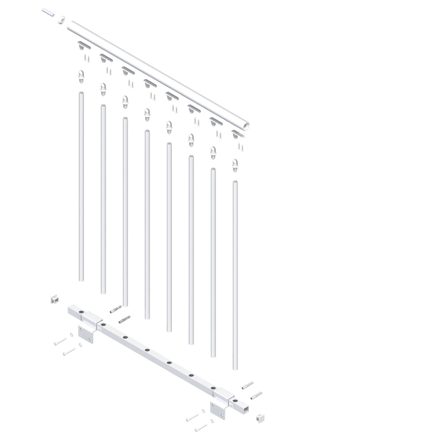 DOLLE Stockholm 3.5-ft White Prefinished Steel Stair Railing Kit