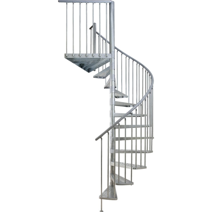 DOLLE Toronto 61-in x 13-ft Galvanized Grey Spiral Staircase Kit