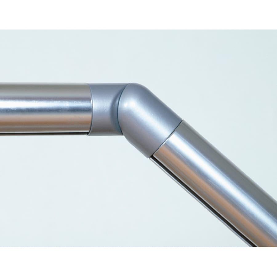 PROVA Powder Coated Gray Steel Elbow Handrail Bracket