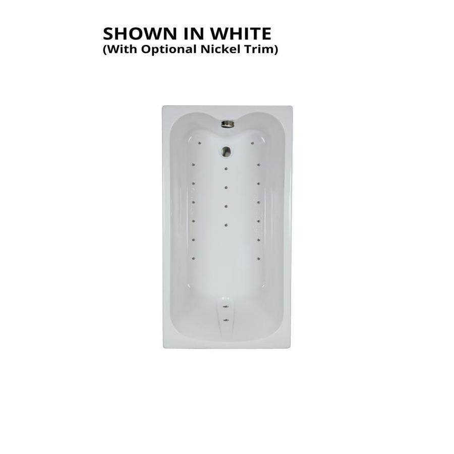 Watertech Whirlpool Baths Ultra 59.75-in L x 31.75-in W x 23.5-in H White Acrylic Rectangular Drop-in Air Bath