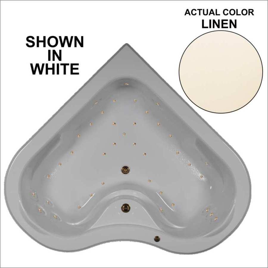 Watertech Whirlpool Baths 64.25-in L x 64.25-in W x 21.5-in H Linen Acrylic 2-Person Corner Drop-in Air Bath