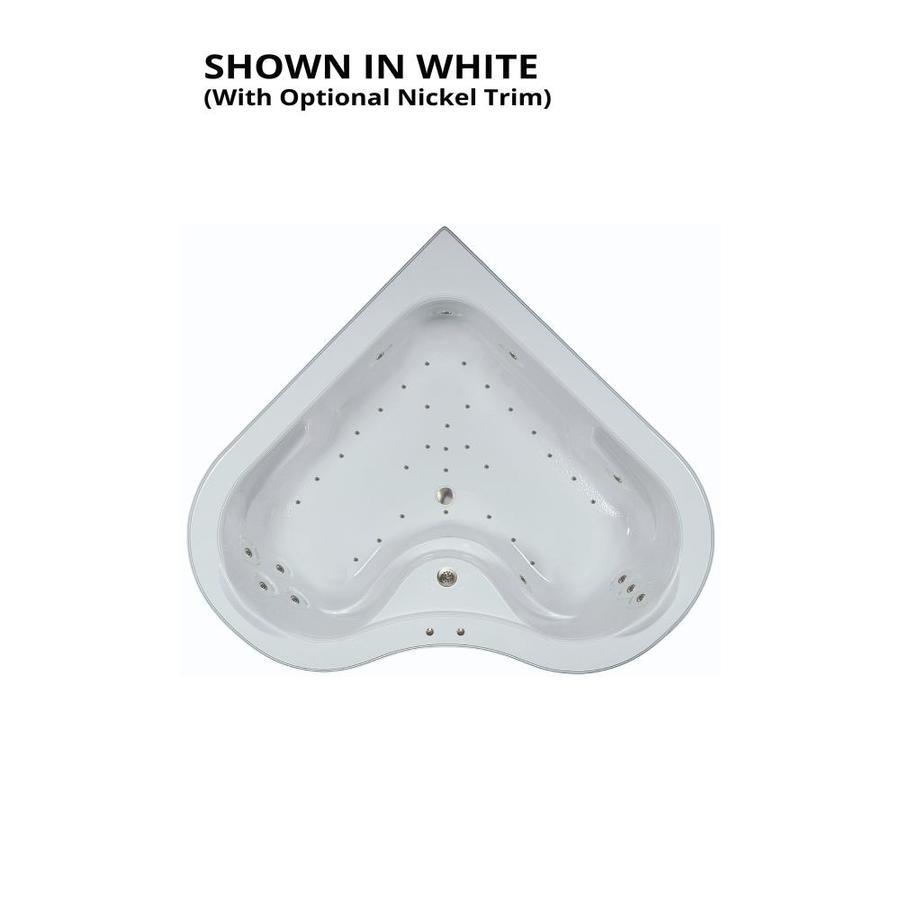 Watertech Whirlpool Baths 64.25-in L x 64.25-in W x 21.5-in H White Acrylic 2-Person Corner Drop-in Air Bath