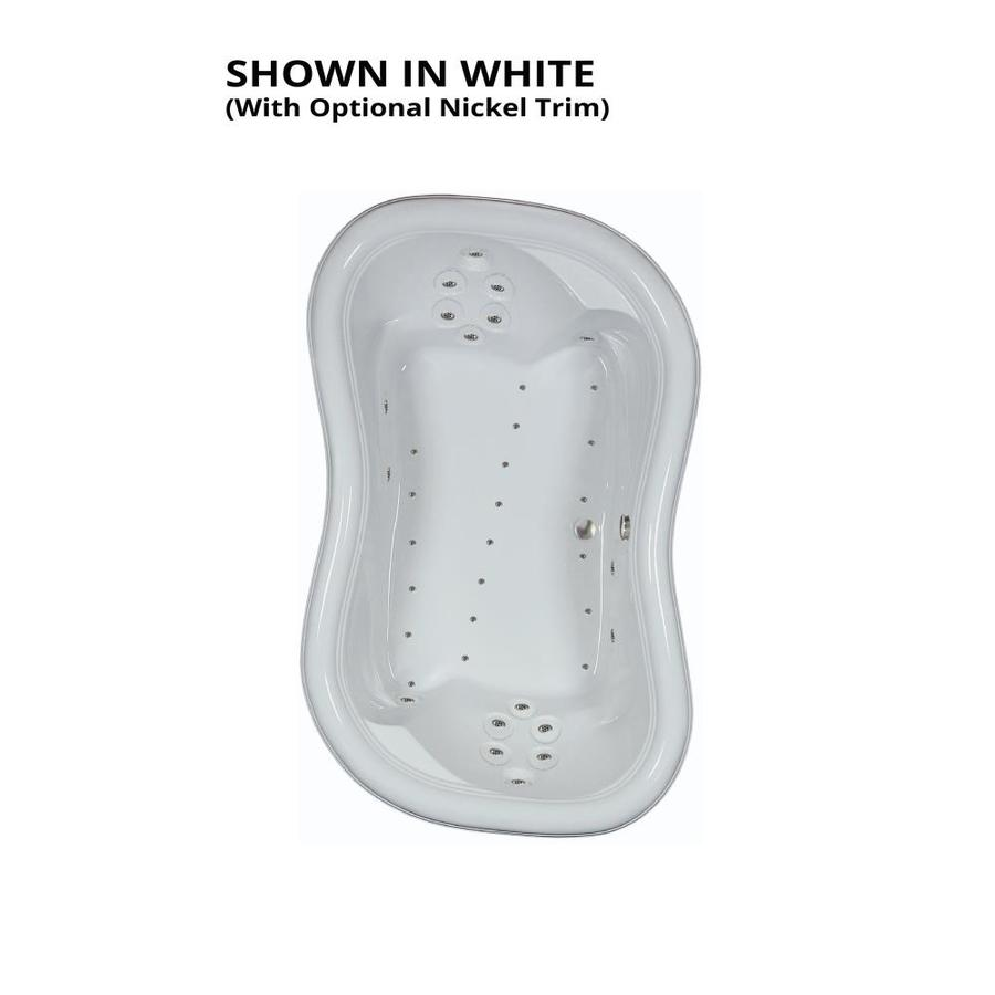 Watertech Whirlpool Baths 78-in L x 52-in W x 26.375-in H White Acrylic 2-Person Hourglass Drop-in Air Bath