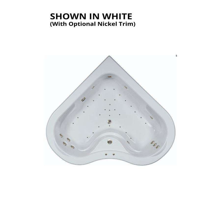 Watertech Whirlpool Baths Elite 64-in L x 64-in W x 21.5-in H 2-Person White Acrylic Corner Drop-in Whirlpool Tub and Air Bath