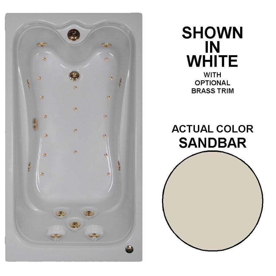 Watertech Whirlpool Baths Elite 60-in L x 32-in W x 23.75-in H Sandbar Acrylic Rectangular Drop-in Whirlpool Tub and Air Bath