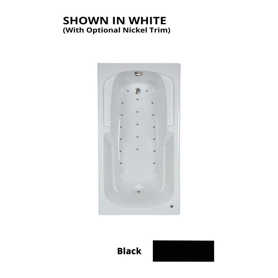 Watertech Whirlpool Baths 60-in L x 32-in W x 21-in H Black Acrylic Rectangular Drop-in Air Bath