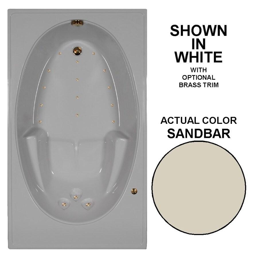 Watertech Whirlpool Baths 72-in L x 42-in W x 20-in H Sandbar Acrylic Rectangular Drop-in Air Bath