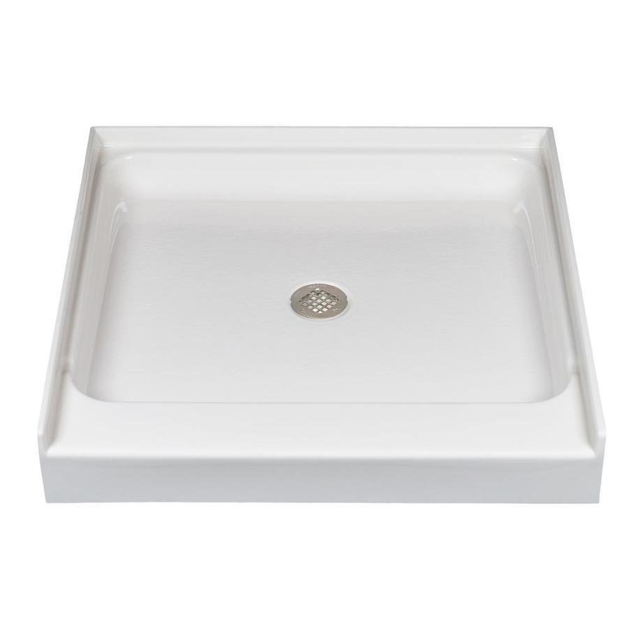 Watertech Whirlpool Baths Bone Acrylic Shower Base (Common: 36-in W x 36-in L; Actual: 36-in W x 36-in L)