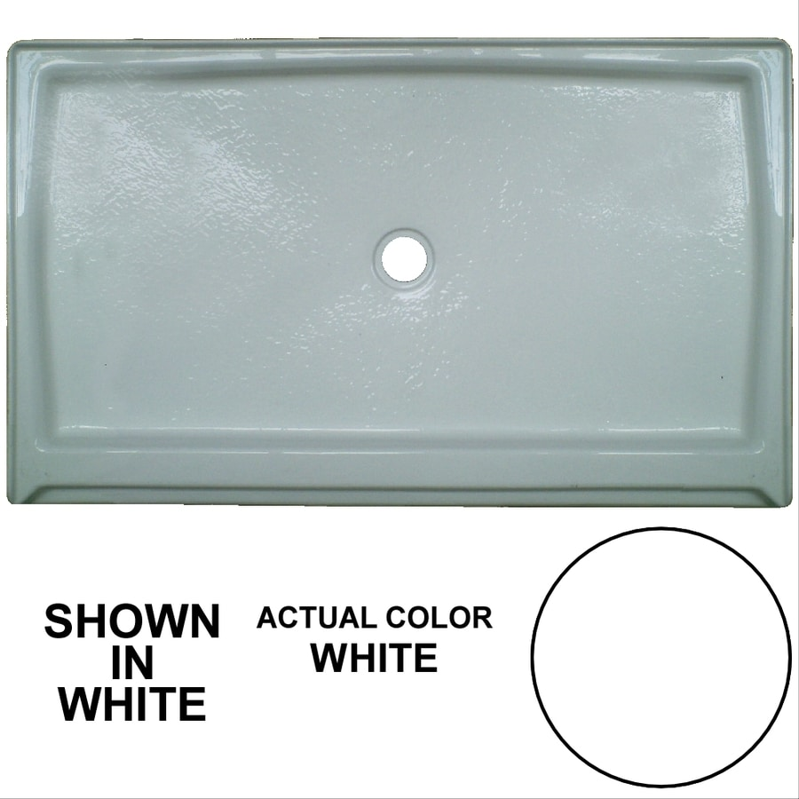 Watertech Whirlpool Baths White Acrylic Shower Base (Common: 36-in W x 60-in L; Actual: 36-in W x 60-in L)