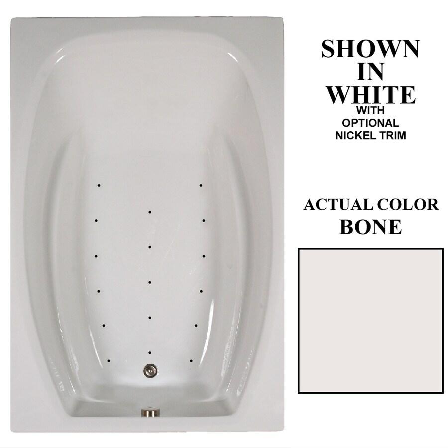 Hydra Massage Baths 72-in L x 48-in W x 23-in H Bone Acrylic 2-Person Rectangular Drop-in Air Bath