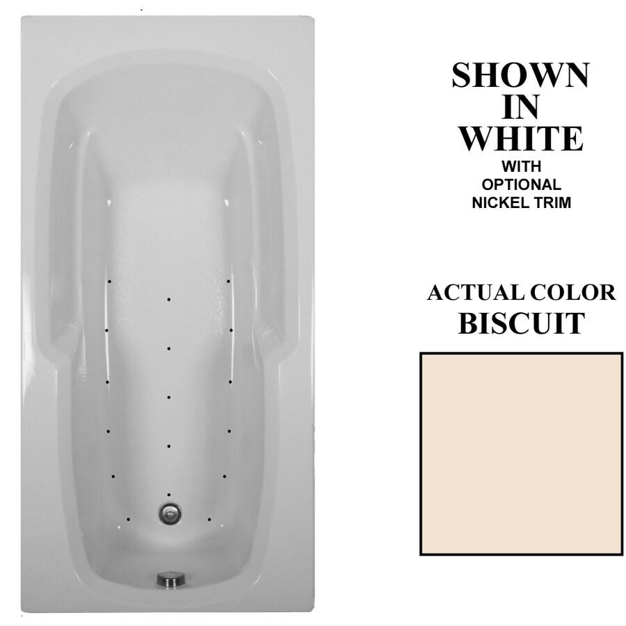 Hydra Massage Baths 66-in L x 32-in W x 21-in H Biscuit Acrylic Rectangular Drop-in Air Bath