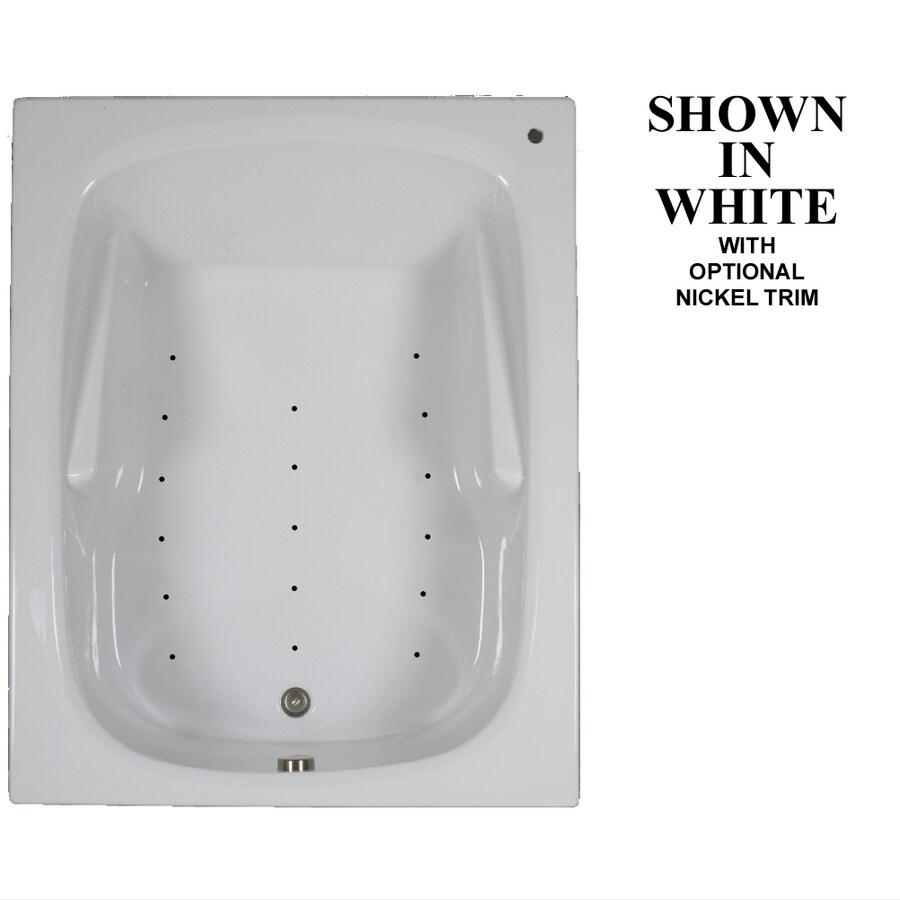 Hydra Massage Baths 60-in L x 48-in W x 23.5-in H White Acrylic 2-Person Rectangular Drop-in Air Bath