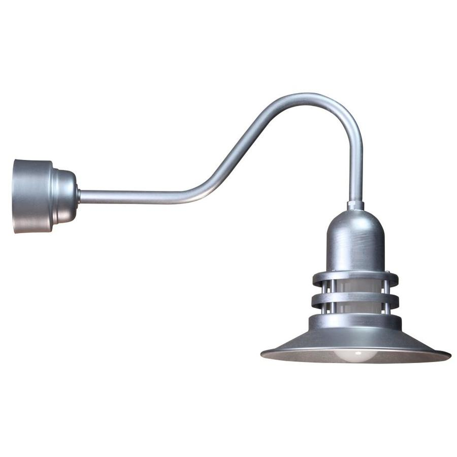 Wall Lamps Not Hardwired : Shop Brooster 12-in W 1-Light Galvanized Arm Hardwired Wall Sconce at Lowes.com