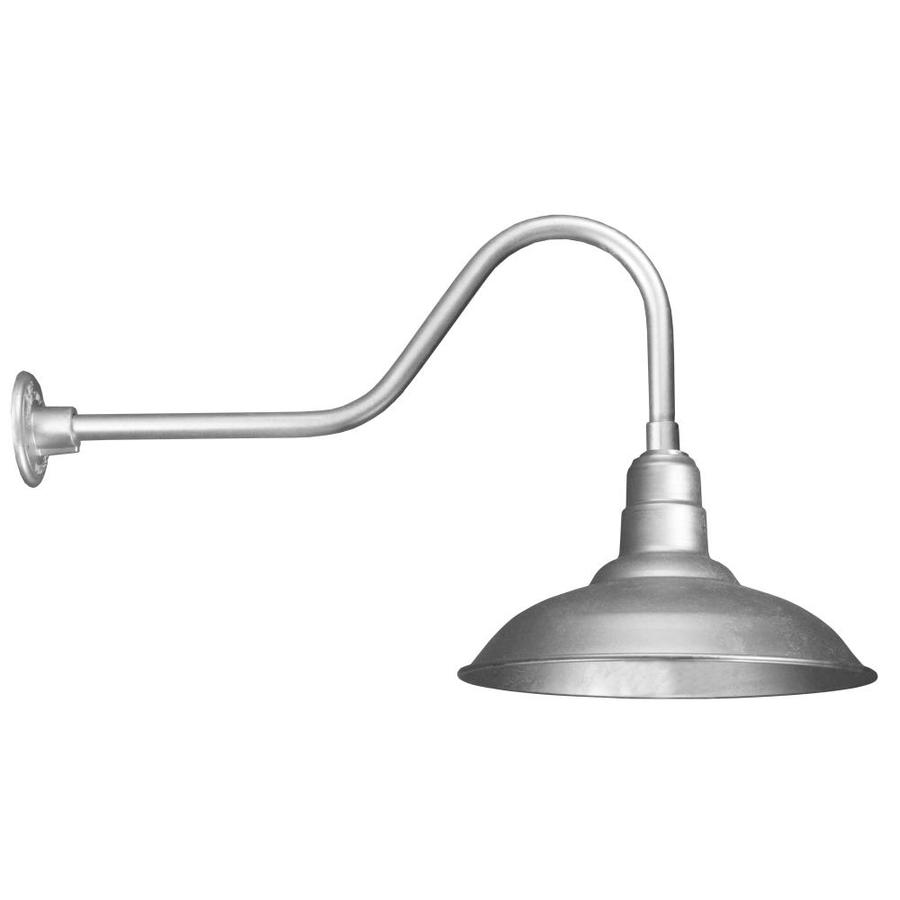 Brooster 16-in W 1-Light Galvanized Arm Hardwired Wall Sconce
