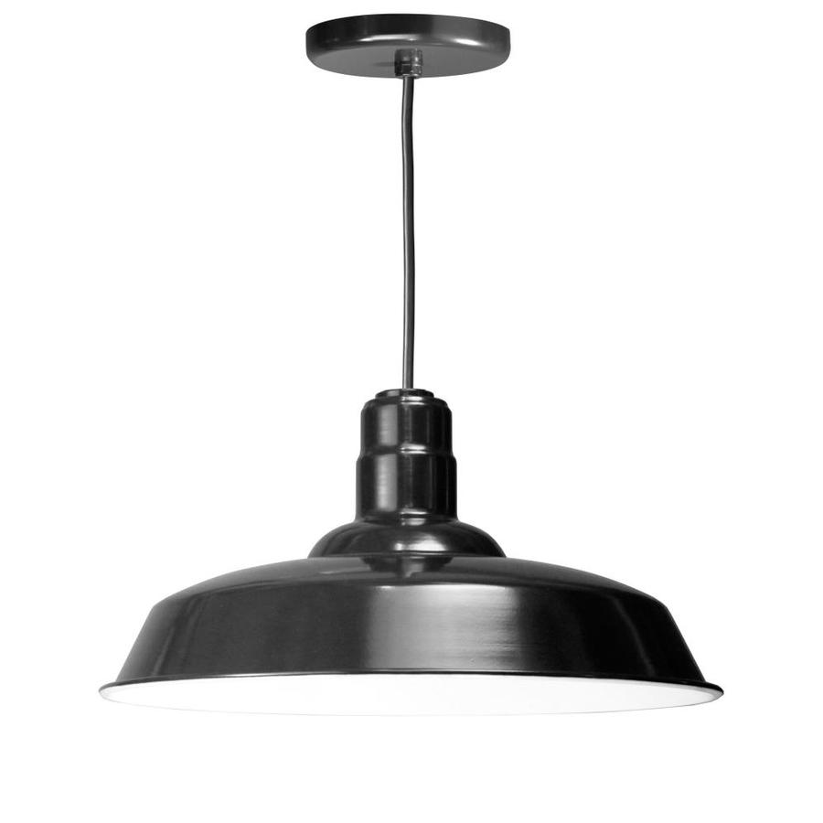 Brooster 20-in Black Mini Pendant