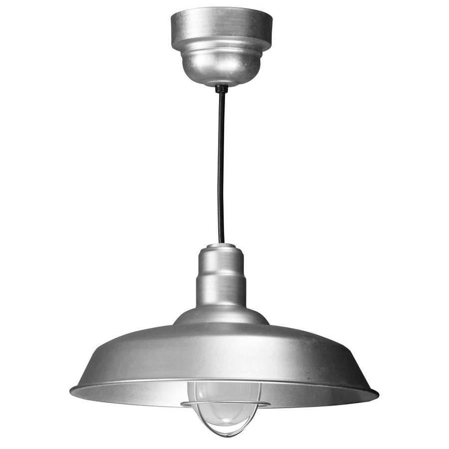 Brooster 20-in Galvanized Mini Pendant