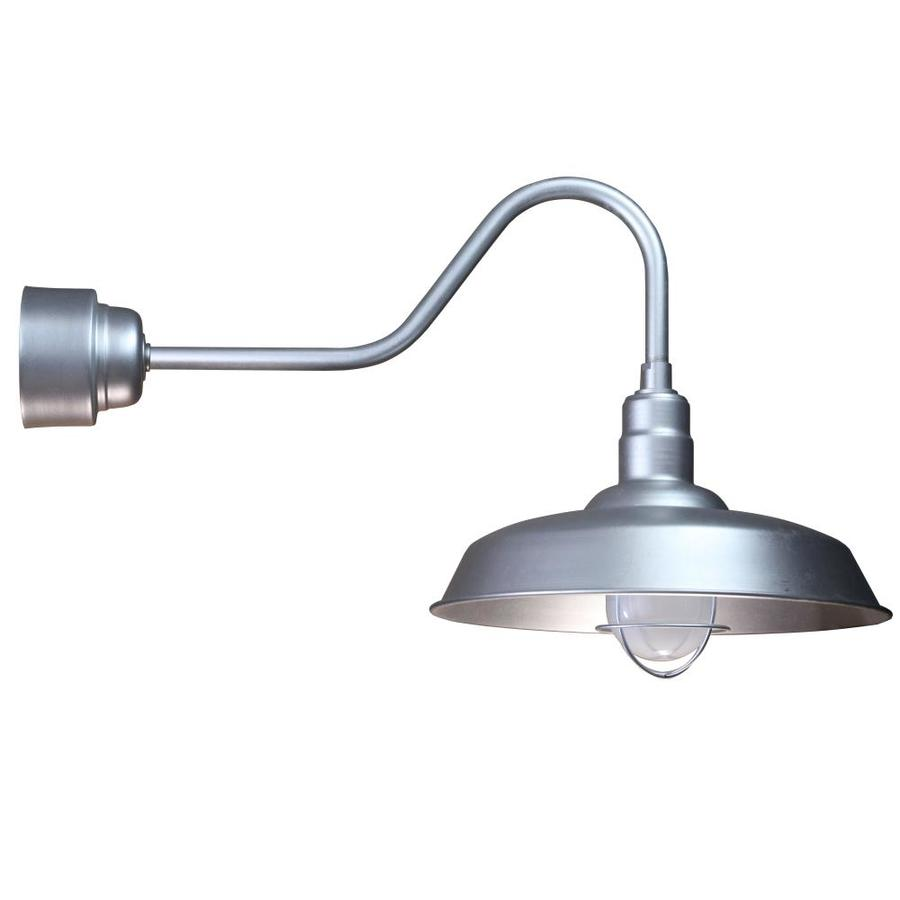 Brooster 20-in W 1-Light Galvanized Arm Hardwired Wall Sconce